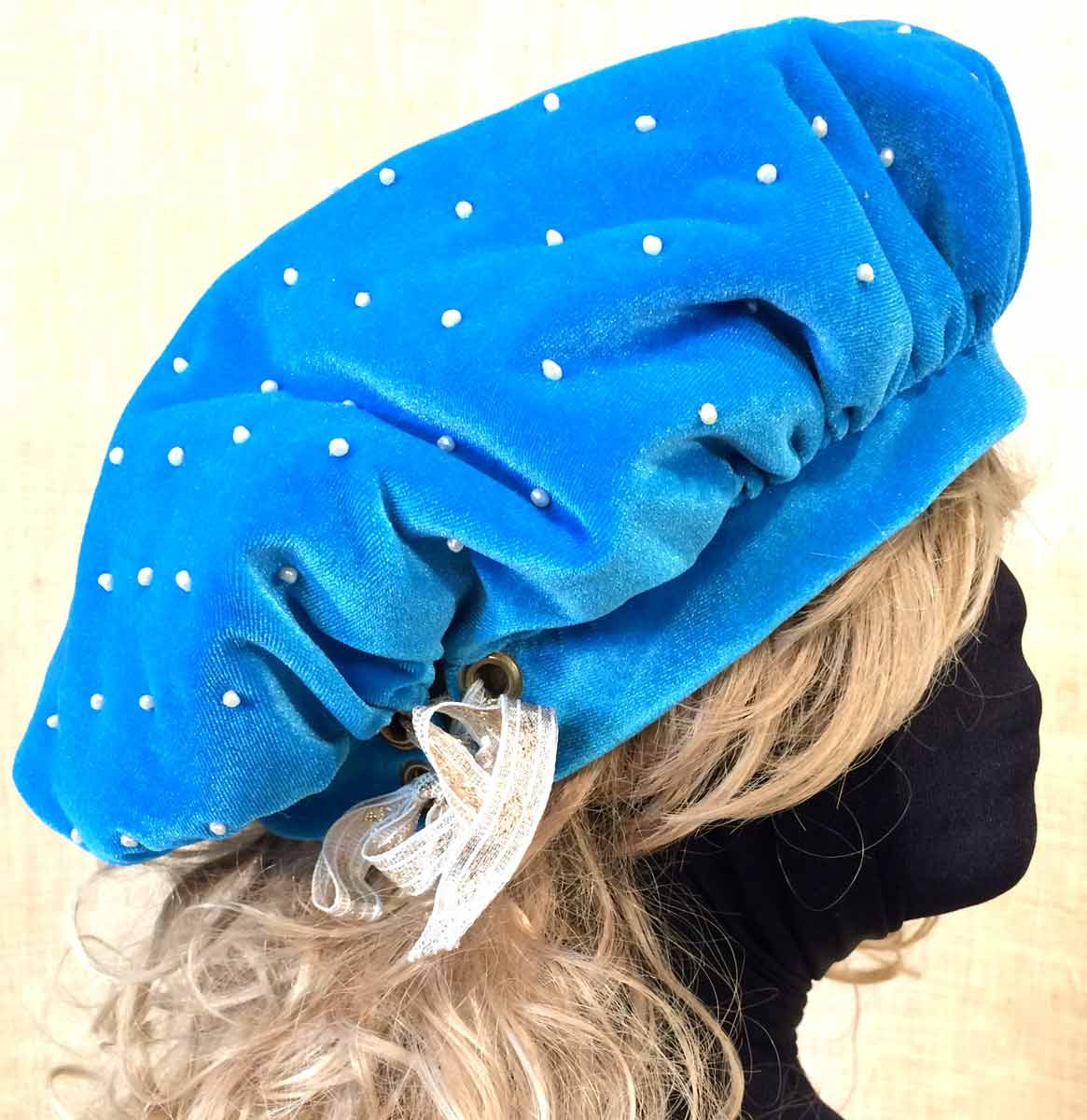 Adjust Perfect Comfortable Headband Fit with Grommet Lacing Ribbon Bow b86aa2a94cf