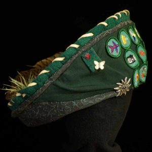 Keepsake Hat Custom Made Features Girl Scout Badges Sash Mementos