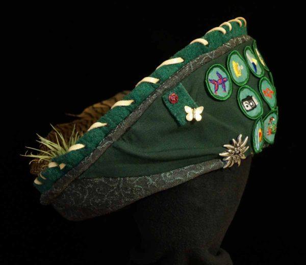 Keepsake Hat Custom Made Features Girl Scout Badges Sash Mementos