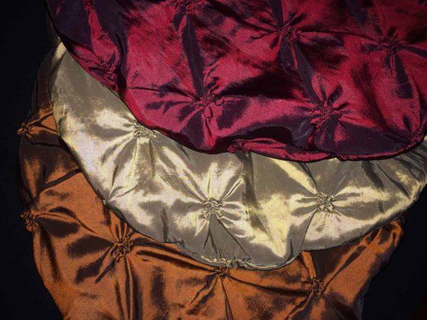 Choose Tucked Taffeta Beret Color Option | Copper Bronze or Ruby